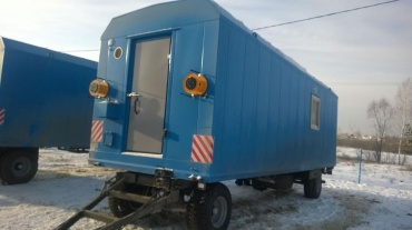 Mobile housing unit on chassis with equipment