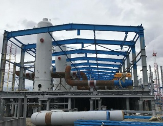 Metal-structures for the gas treatment plant Complex Gas Treatment Unit 2S